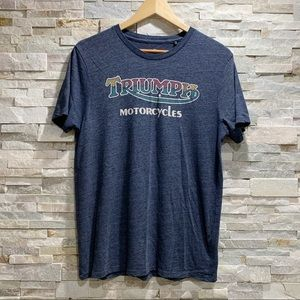 Lucky Brand Triumph Motorcycle Graphics Tee